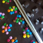 Smarties Tray bake